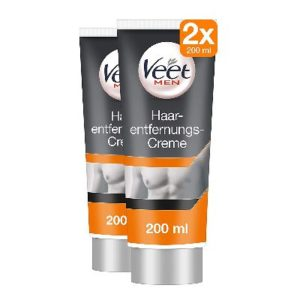 Veet Men Enthaarungs-Gelcreme 2er Pack (2 x 200ml)-opt
